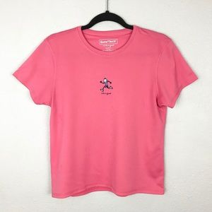 Life is Good Tech Pink Athletic Top Sz Large